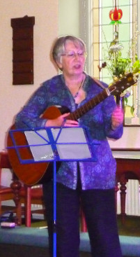 Norma playing at Faith and Folk